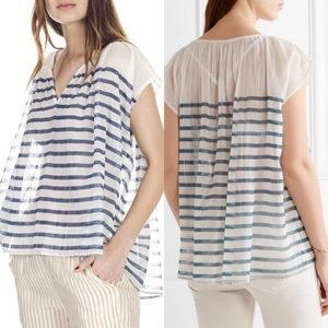 Mes Demoiselles Paris mathilde striped gauzy top